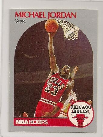 Michael Jordan 1990-91 Hoops Basketball Card