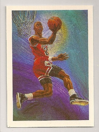 Michael Jordan 1990-91 Hoops Team Checklist Card
