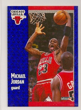 michael jordan 1991-92 fleer basketball trading card