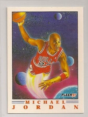 Michael Jordan 1991-92 Fleer Pro Visions Basketball Card