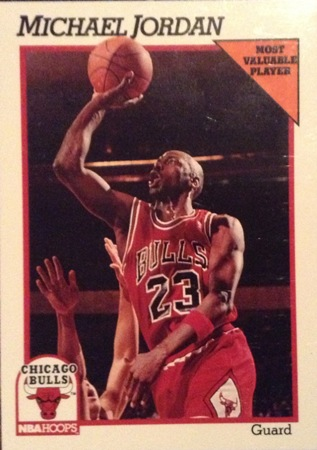 Michael Jordan 1991-92 Hoops Basketball Card
