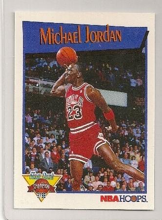 Michael Jordan 1991-92 Hoops Slam Dunk Basketball Insert Card