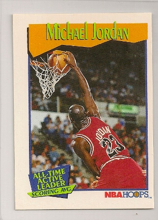 Michael Jordan 1991-92 Hoops Stat Leaders Basketball Card