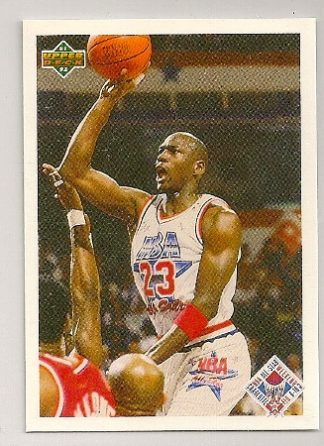 Michael Jordan 1991-92 Upper Deck All Star Checklist Card