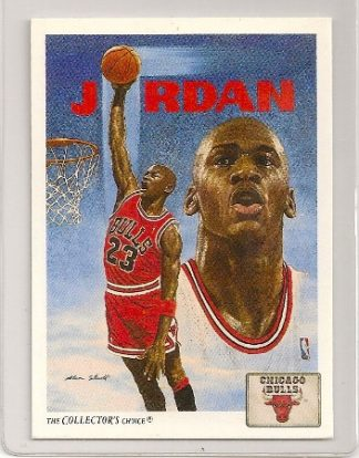 Michael Jordan 1991-92 Upper Deck Bulls Team Checklist Card