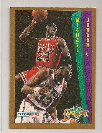 Michael Jordan 1992-93 Fleer Slam Dunk Basketball Trading Card