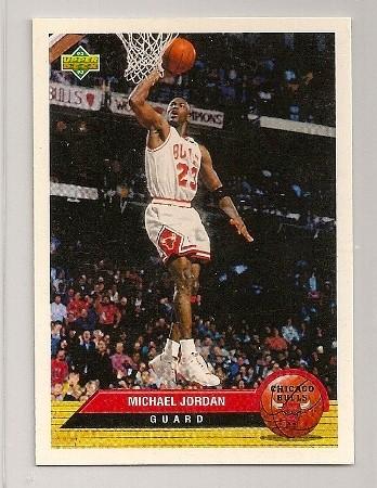 Michael Jordan 1992-93 Upper Deck McDonald's Card