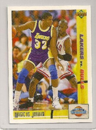 Michael Jordan-Magic Johnson 1991-92 Upper Deck Classic Confrontation Card