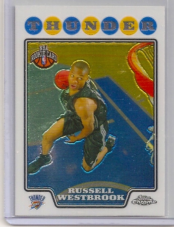 russell westbrook 2008-09 topps chrome rookie card