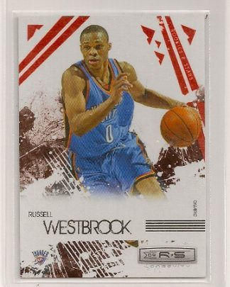 russell westbrook 2009-10 rookies & stars red insert