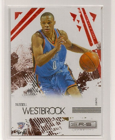 russell westbrook 2009-10 rookies & stars red insert