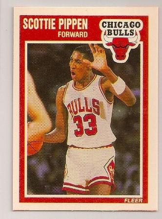 Scottie Pippen 1989-90 Fleer Basketball Trading Card #23