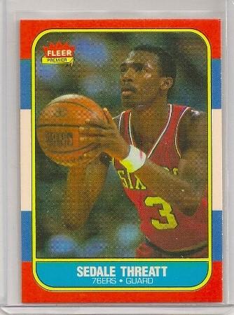 Sedale Threatt 1986-87 Fleer Basketball Trading Card #112