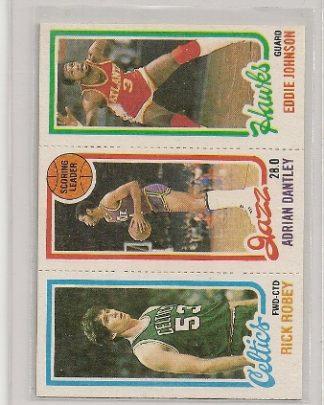 1980-81 Topps Three Panel Adrian Dantley Card #234