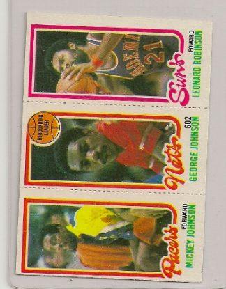 1980-81 Topps Three Panel George Johnson Card