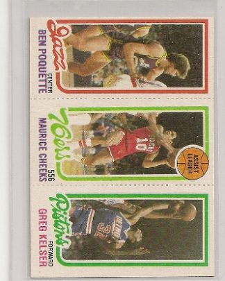 1980-81 Topps Three Panel Maurice Cheeks Card #176