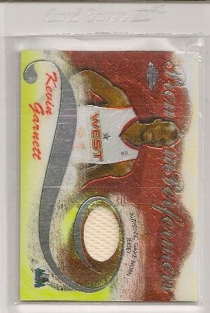 2005-06 Topps Chrome Premium Performers Kevin Garnett Jersey Card