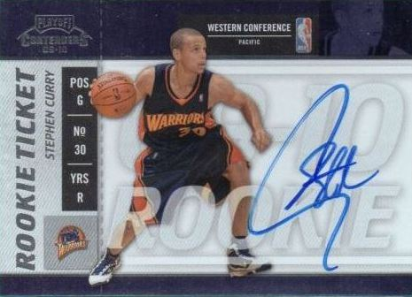 2009-10 playoff contenders rookie ticket auto stephen curry rookie card