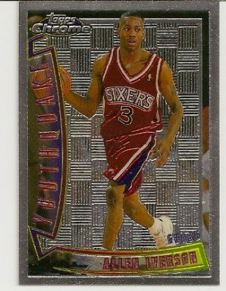 Allen Iverson 1996-97 Topps Chrome Youthquake Rookie Card
