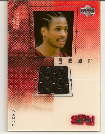 Allen Iverson 2000-01 Flight Gear Slam 76ers Jersey Card