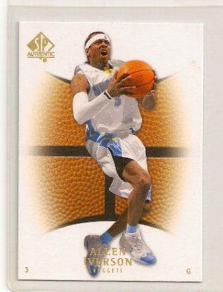 Allen Iverson 2007-08 Upper Deck SP Authentic Base Card #66