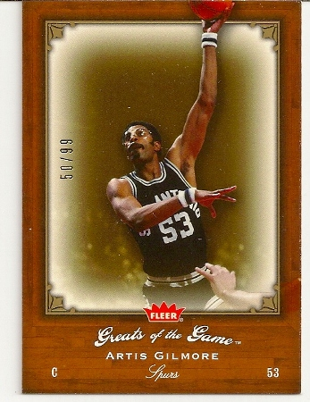 Artis Gilmore 2005-06 Fleer Greats of The Game Insert Card /99
