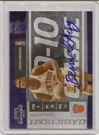 Bernard King 2009-10 Playoff Contenders Classic Ticket Auto Card