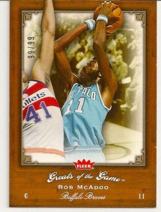 Bob McAdoo 2005-06 Fleer Greats of The Game Insert Card /99