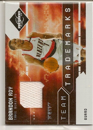 Brandon Roy 2009-10 Leaf Limited Team Trademarks Jersey Card