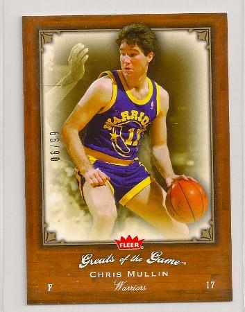 Chris Mullin 2005-06 Fleer Greats of The Game Insert Card