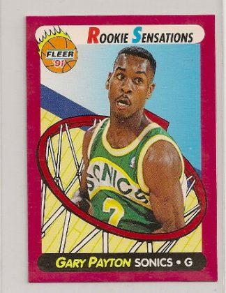 Gary Payton 1991-92 Fleer Rookie Sensations Card