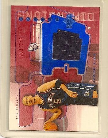 Jason Kidd 2003-04 Triple Dimensions 3-D Jerseys Insert Card