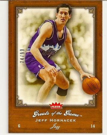 Jeff Hornacek 2005-06 Fleer Greats of The Game Insert Card /99