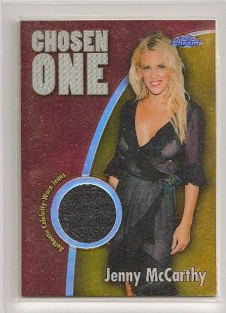 Jenny McCarthy 2005-06 Topps Chrome Chosen One Jean Relics Refractor