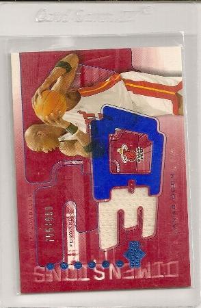 Lamar Odom 2003-04 Triple Dimensions 3-D Warmups Insert Card