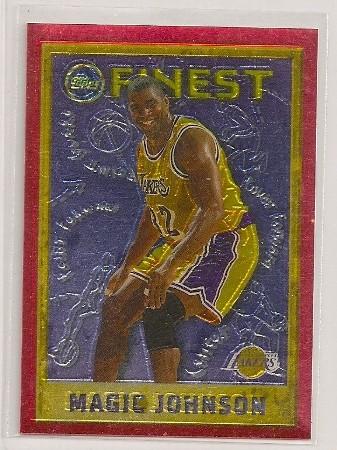 Magic Johnson 1995-96 Topps Finest Card