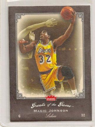 Magic Johnson 2005-06 Fleer Greats of The Game Card #54