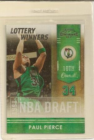 Paul Pierce 2009-10 Playoff Contenders Lottery Winners Insert Card