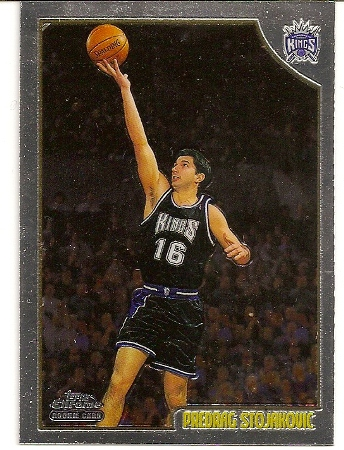 Predrag Stojakovic 1998-99 Topps Chrome Rookie Card