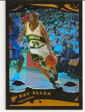 Ray Allen 2005-06 Topps Chrome Black Refractor /399