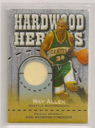 Ray Allen 2005-06 Topps Chrome Hardwood Heroics Shorts Card