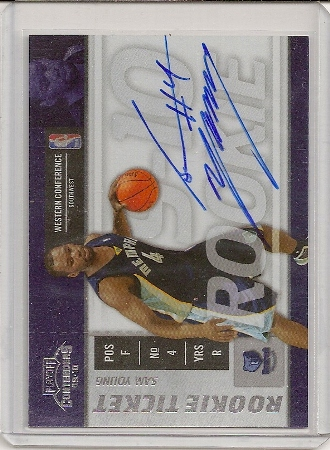 Sam Young 2009-10 Playoff Contenders Rookie Ticket Auto Card