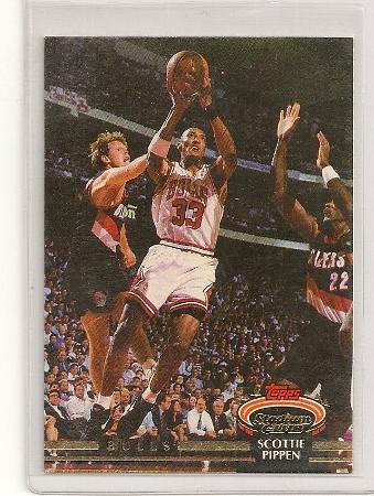 Scottie Pippen 1992-93 Topps Stadium Club Card #367