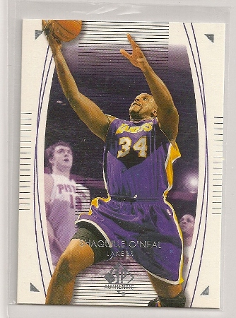 Shaquille O'Neal 2003-04 Upper Deck SP Authentic Base Card #38