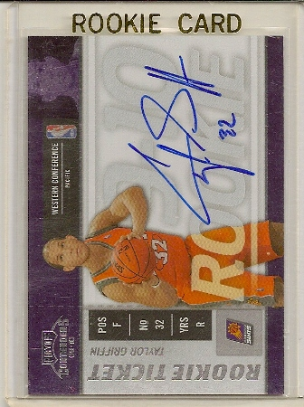 Taylor Griffin 2009-10 Playoff Contenders Rookie Ticket Auto Card