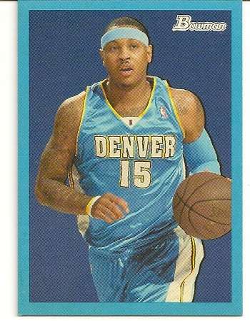Carmelo Anthony 2009-10 Bowman '48 Blue Insert /1948