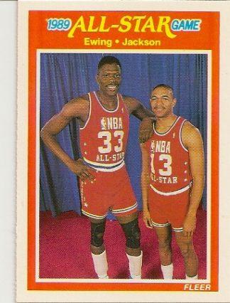 Patrick Ewing and Mark Jackson 1989-90 Fleer All-Star Card