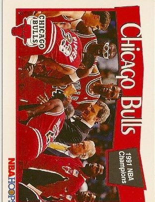 1991-92 Hoops Chicago Bulls Insert Card Michael Jordan Card