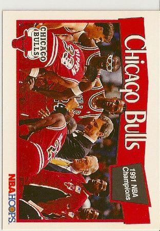1991-92 Hoops Chicago Bulls Insert Card Michael Jordan Card