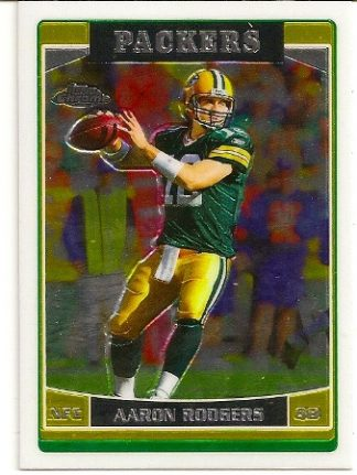 Aaron Rodgers 2006 Topps Chrome Card